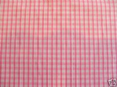 "1/8"" Gingham Quality Polycotton Fabric in Pink"